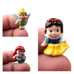 Wholesale Q version of chunky Princess Snow White Little Mermaid Ariel tinker Bell Fairy Micro Gardening landscaping Figure doll DIY Resin Craft