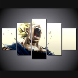 5 Piece No Framed HD Printed dragon ball Print room decor print poster picture canvas Free shipping