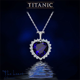 Wholesale Heart of Ocean Statement Locket Necklaces Women Lady Make Crystal Fashion Titanic Movie Pendant Necklace Party High Quality Jewerly