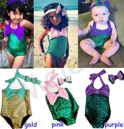 2016 New Girls Mermaid Swimwear Kids Swimming Bikinis Set Two Pieces Baby Girls Bathing Suit Baby Girls Mermaid Swimwear Bathing Suit