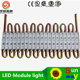Superbright LED module light lamp SMD 5050 IP65 waterproof LED light module sign LED back lights SMD 3led DC12V RGB Warm White Red