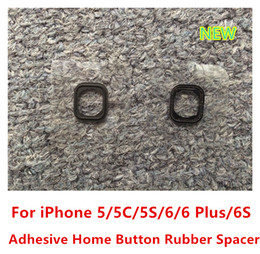Wholesale Black Home Button Key With Rubber Gasket Sticker Replacement For iPhone G C S S Plus