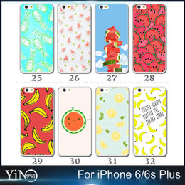 Wholesale 2016 Cool Summer Fresh Fruit Case Watermelon Banana Pineapple Lemon Cherry Strawberry TPU Cover for iPhone s plus