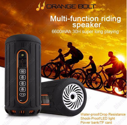 New Outdoor Bike Subwoofer Bluetooth Speaker IPX4 Waterproof Wireless 6600mAh Powerful Portable Speakers With Card limited sale
