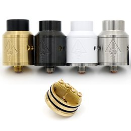 Wholesale Vaporizer GOON RDA Clone Rebuildable Dripping Atomizers With Drip Tips And Metal CHUFF mm Diameter VS Best Quality Fit Box Mods