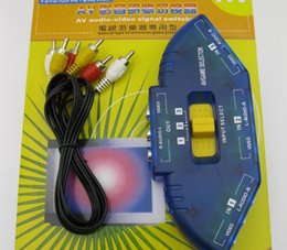 Wholesale New Audio Video Input Selector Switcher AV Multi Selector port Switcher for TV DVD VCR Game Play Station