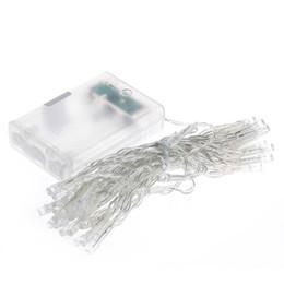 Descuento luces de hadas blancas con pilas AA de energía de la batería 40 Luz de Navidad LED cadena de navidad blanco