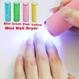 Wholesale 1PCS Mini LED uv Gel Curing Lamp without battery Portability Nail Dryer LED Flashlight Currency Detector Aluminum Alloy