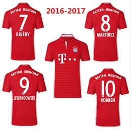 Wholesale Thai quality Bayern Munich Soccer Jerseys LEWANDOWSKI uniform MULLER ROBBEN COSTA Home Red Football shirts ET005