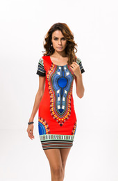Wholesale-Summer New african fashion design Vestidos african traditional print Dashiki dress for lady Women casual Bohemian floral dresses