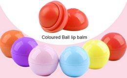Wholesale Ball Lip Balm Lipstick Organic Ingredients Lip Protector Sweet Taste Fruit Embellish Lip Ball Makeup Lipstick Gloss WA0044