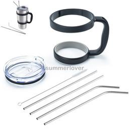 Fit for 30 Oz YETI Handle Lid Straw Set Tumbler Rtic Sic Cup Holder Rambler Drinking Mug