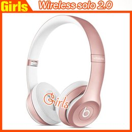 Wholesale AAA quality Rose gold wireless Solo Bluetooth Headphone Headset solo2 fast shipping wireless solo coming out soon