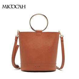 Fashion Women Bucket Bags 2 Pieces Metal Ring PU Leather Luxury Handbags Women Bags Designer NCS044