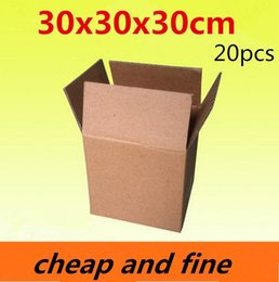 30x30x30cm 20pcs High quality wholesale kraft paper boxes  Thicken three floor corrugated kraft packaging gift,cosmetics gaines