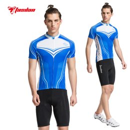 Tasdan Cycling Wear Mountain Bikes Clothes Cycling Clothing Cycling Jerseys Bicycle Men Cycling Jerseys Short Sleeve Blue+ Cycling Shorts
