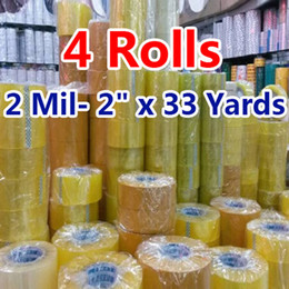 Wholesale rolls Carton Sealing Clear Packing Shipping Box Tape Mil quot x Yards Office Film Adhesive Tape Gift Ribbon Strapping