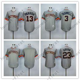 Wholesale 2016 Detroit Tigers Alan Trammell Kirk Gibson Lance Parrish Men s Baseball Jersey With Standard US Size