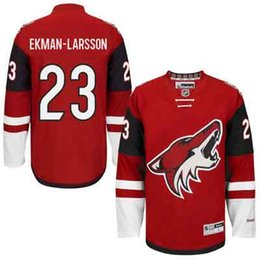 Wholesale Mens Arizona Coyotes Oliver Ekman Larsson Red Premier Player Ice Hockey Jerseys Price Fast Shipping Embroidery Logos