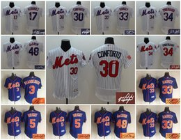 Wholesale A1 Elite New York Mets signature signed retro throwback stitched jersey men Granderson Wright Conforto Harvey Syndergaard Degrom