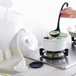 Wholesale LLA291 Aesthetic Swan Modeling Plastic Material Spoons cm High Vertical Kitchen Long Handle spoon Tray