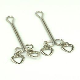 Wholesale Stainless steel clip heart Yin offbeat toys sex toys for couples erotic toys nipple clamps adult games Vaginal clip