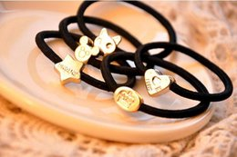Wholesale HOT Explosion models Small metal jewelry fashion pattern hair ring wear practical lovely pattern affordable worth buying