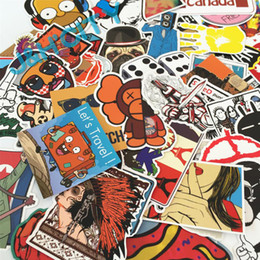 Wholesale 50pcs Pack Mixed Different Styles Single Sticker Decal Waterproof Doodle Car Stickers Funny Graffiti Motorcycle Bike Travel Case CDE_00F