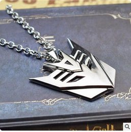 Wholesale Movie Jewelry Transformers Necklaces Autobot Mask Necklace Pendants Link Chain Statement Movie Jewelry Transformer Mask Jewelry
