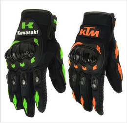 Wholesale Fashion New Full Finger Motorcycle Gloves Motocross Luvas Guantes Green Orange Moto Protective Gears Glove For Men hight quality Free Ship