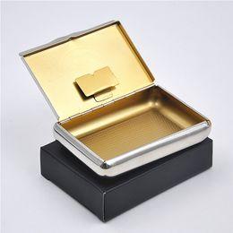 Latas de papel en venta-1 X Caja de tabaco de cigarrillos de metal de acero inoxidable para caja de almacenamiento de papel de cigarrillos 77MM puede personalizar su logotipo