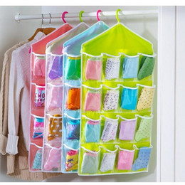 High Quality 16 Pockets Over Door Cloth Shoe Organizer Hanging Hanger Closet Space Storage AY871962