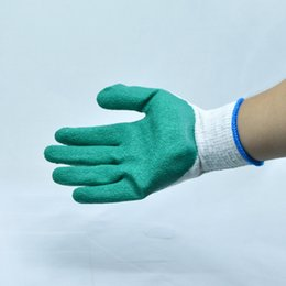 Wholesale Latex coated rubber outdoor working gloves antiskid Protective cut resistant and anti abrasion Ideal for handling of abrasive materials