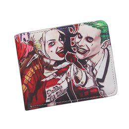 Wholesale Bifold DC Comics Wallets Movie Suicide Squad Wallet Women Men Student Anime Purse Bag Batman Harley Quinn Wallet For Teenager