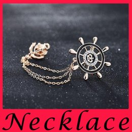 Wholesale Navy air rudder suit badge BROOCH BADGE brooch brooch anchor chain tassel male fashion personalized jewelry
