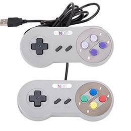 Compra Online Joystick usb-Venta al por menor - Juego retro para el USB de SNES atado con alambre Controlador clásico de la palanca de mando de GamePad para la PC de Windows Seis botones digitales ZY-PS3-17