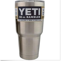 Wholesale Best YETI oz oz Rambler Stainless Steel Cups Cooler YETI Rambler Tumbler Cup Vehicle Beer Mug Double Wall Bilayer Vacuum