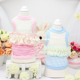 2016 The new spring and summer LACE VEST - Lollipop Teddy pet dog vest his clothes pet suppy