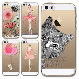 Wholesale Ballet girl Pattern Ultra Thin Transparent Soft Funda Coque Back Case For Apple iphone inch plus inch Capa Para