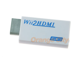 Wholesale Original Package For Wii to HDMI Wii2HDMI Adapter Converter mm Audio Video Output Full HD P P HDTV Monitor