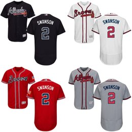 Wholesale New arrvial Atlanta Braves Jersey Mens Dansby Swanson Navy Blue Cool Base MLB Replica Jersey Stitched size S XL