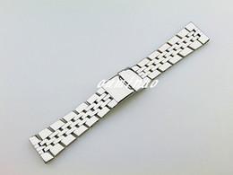 Descuento alto acero inoxidable pulido Nueva acero inoxidable de alta calidad de 22 mm a 24 mm Hombres Pulido de relojes de pulsera pulseras para reloj Breitling