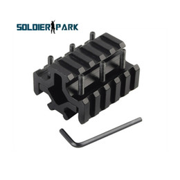 Wholesale Airsft Hunting Accessories Aluminum Slots Rail Picatinny Weaver Rail for Bipod Rifle Barrel Mount and Laser Tube Black order lt no track