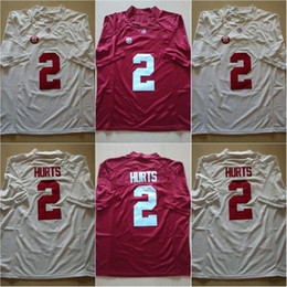 Wholesale New Jalen Hurts White Red Color Alabama Crimson Tide Ridley Bo Scarbrough College Football Stitched Limited Jerseys