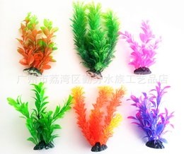 Wholesale Aquarium landscape Simulation of aquatic plants Decorate artificial flowers