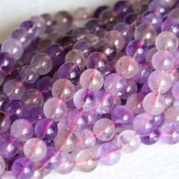 "Wholesale Super Melody Stone Bracelets - Wholesale Genuine Natural Purple Super Seven Super 7 Round Loose Small Beads Melody Stone Fit Jewelry Necklace Bracelets 16"" 04148"