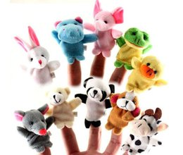 Wholesale 100pcs Velvet Plush Finger Puppets Animal puppets Toys finger puppet Kids Baby Cute Play Storytime Assorted Animals