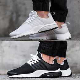 Wholesale With Box Air Presto BR QS Breathe Classical Black White Running Shoes for Men Women Cheap Original Air Presto Sport Shoe Hot Sale Eur
