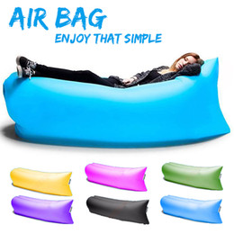 Wholesale Inflatable Sofa Sleeping Bag Air Sleep Sofa Couch Portable Furniture Sleeping Hangout Inflate Air Bed DHL OTH238