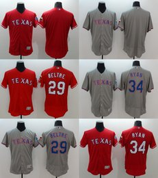 Wholesale Men s Elite Flexbase Texas Rangers Adrian Beltre Nolan Ryan Cole Hamels Baseball Jerseys Red Stitched Free Drop Shipping